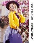 outdoor portrait of young...   Shutterstock . vector #1043461456
