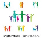 colorful abstract pictograms... | Shutterstock .eps vector #1043464273