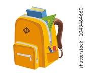 school bag vector   Shutterstock .eps vector #1043464660