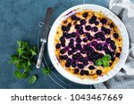 cottage cheese casserole baked... | Shutterstock . vector #1043467669