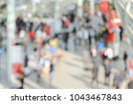 view of a trade show with... | Shutterstock . vector #1043467843