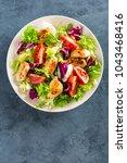 fresh vegetable salad of... | Shutterstock . vector #1043468416