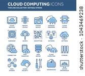 cloud omputing. internet... | Shutterstock .eps vector #1043469238
