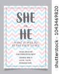 she or he  gender reveal party... | Shutterstock .eps vector #1043469820