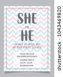 she or he  gender reveal party... | Shutterstock .eps vector #1043469820