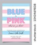 blue or pink  gender reveal... | Shutterstock .eps vector #1043469838