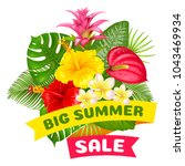 big summer sale. bright... | Shutterstock .eps vector #1043469934