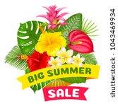 big summer sale. bright...   Shutterstock .eps vector #1043469934