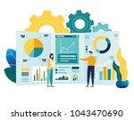 vector illustration of business ... | Shutterstock .eps vector #1043470690