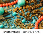 tools  bead tiger eye ... | Shutterstock . vector #1043471776