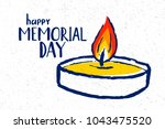 memorial day hand drawn... | Shutterstock .eps vector #1043475520