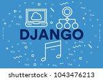 conceptual business... | Shutterstock . vector #1043476213