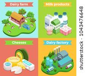 isometric dairy factory square... | Shutterstock .eps vector #1043476648