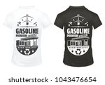 vintage petrol prints on shirts ... | Shutterstock .eps vector #1043476654