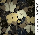 abstract cute floral print in... | Shutterstock .eps vector #1043478430