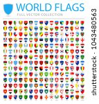 all world flags set   new... | Shutterstock .eps vector #1043480563