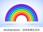 vector colorful rainbow arch | Shutterstock .eps vector #1043481214