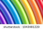 abstract colorful glossy... | Shutterstock .eps vector #1043481220