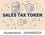 conceptual business...   Shutterstock . vector #1043483524