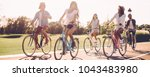 best friends and road ahead.... | Shutterstock . vector #1043483980