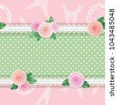 shabby chic textile seamless... | Shutterstock .eps vector #1043485048