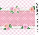 shabby chic textile seamless... | Shutterstock .eps vector #1043485060