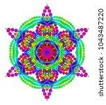 vector mystical mandala for... | Shutterstock .eps vector #1043487220