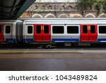 a view of london tube train...   Shutterstock . vector #1043489824