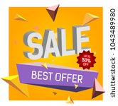 sale up to fifty percent off... | Shutterstock .eps vector #1043489980