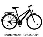 vector lady bike black...