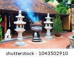 Small photo of Hanoi, Vietnam - February 22, 2016: Religious urn in Temple in Tran Quoc Pagoda in Hanoi, Vietnam