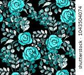 watercolor seamless pattern... | Shutterstock . vector #1043504074