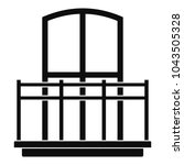 wide balcony icon. simple... | Shutterstock .eps vector #1043505328