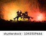 medieval battle scene with...   Shutterstock . vector #1043509666