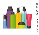 colorful vector cosmetic... | Shutterstock .eps vector #1043510959