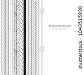 vector black and white braids... | Shutterstock .eps vector #1043515930