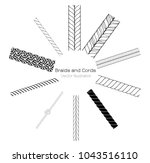 vector black and white braids... | Shutterstock .eps vector #1043516110