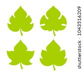 green fresh leaf vector icon... | Shutterstock .eps vector #1043516209