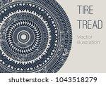 vector motor tire treads... | Shutterstock .eps vector #1043518279