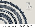 1vector motor tire treads... | Shutterstock .eps vector #1043518420