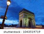 arc de triomphe  paris  france  ...   Shutterstock . vector #1043519719