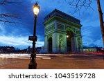 arc de triomphe  paris  france  ... | Shutterstock . vector #1043519728