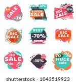 set of modern sale labels.... | Shutterstock .eps vector #1043519923