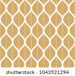 geometric seamless leaf vector... | Shutterstock .eps vector #1043521294