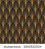 vector seamless pattern.... | Shutterstock .eps vector #1043522524