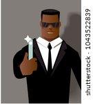 man in black. vector...   Shutterstock .eps vector #1043522839