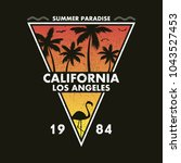 california  los angeles  ...   Shutterstock .eps vector #1043527453