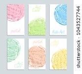 poster template set with pastel ... | Shutterstock .eps vector #1043527744