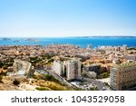 aerial view of marseille and...   Shutterstock . vector #1043529058