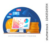 cryptocurrency trading... | Shutterstock .eps vector #1043534554
